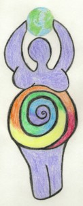 goddess spiral color w earth